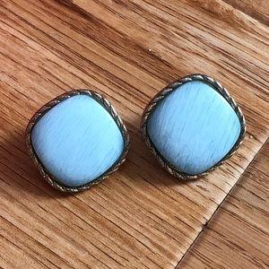 Jewelry - Baby Blue Diamond-Shape Earrings